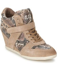 Ash - Bisou Women's Shoes (high-top Trainers) In Brown - Lyst