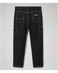Napapijri Pantalon M-SAIMAA - NP0A4EJ5 PANTALON Homme BLACK - Noir
