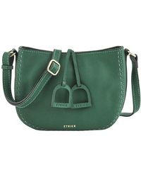 Etrier Sac Bandouliere Sac bandoulière Tradition cuir TRADITION 709-00EHER3A - Vert