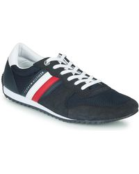 Tommy Hilfiger Lage Sneakers Essential Mesh Runner - Blauw