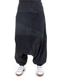 Fantazia Sarouel imprime noir gris Badala Pantalon