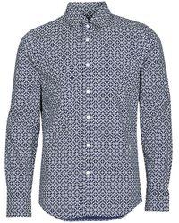 G-Star RAW Overhemd Lange Mouw Core Super Slim Shirt Ls - Blauw