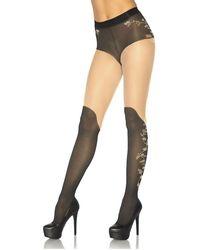 Leg Avenue - Collant fantaisie 20D femmes Collants & bas en Noir - Lyst
