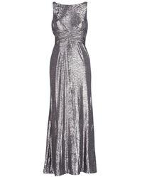 Lauren by Ralph Lauren Lange Jurk Sleeveless Evening Dress Gunmetal - Grijs