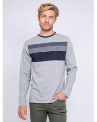 Ritchie T-shirt manches longues col rond pur coton JONTANA T-shirt - Gris