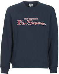 Ben Sherman Sweater Logo Sweat - Blauw