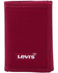Levi's Cartera Batwing Trifold Wallet - Rojo