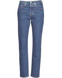 Levi's Boyfriend Jeans Levis 501® Crop - Blauw