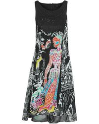 Desigual Korte Jurk Genova Dress - Meerkleurig