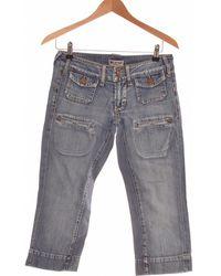 Mango Pantacourt Femme 36 - T1 - S Pantalon - Bleu