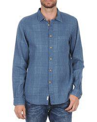 Façonnable - Jjmct502000ere Men's Long Sleeved Shirt In Blue - Lyst