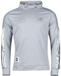 adidas Jersey SPACE HOODIE M - Metálico