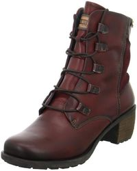 Pikolinos - Arcilla Women's Low Ankle Boots In Red - Lyst