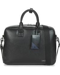 Calvin Klein LAPTOP BAG W/ PCKT - Negro