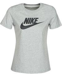 Nike Camiseta W NSW TEE ESSNTL ICON FUTUR - Gris