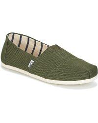 TOMS - ALPARGATA hommes Chaussures en vert - Lyst