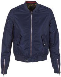 697e8affcc Replay - Vesta Women s Jacket In Blue - Lyst
