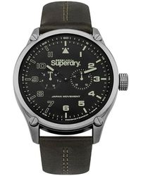 Superdry Reloj analógico Aviator SYG208BN - Marrón