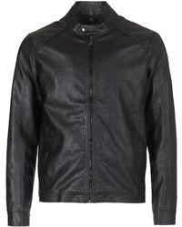 Yurban - Imimid Men's Leather Jacket In Black - Lyst