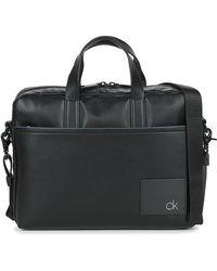 Calvin Klein Ck Direct Slim Laptop Bag Briefcase - Black