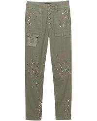Desigual Pantalones 21SWPN30 - Verde