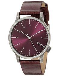 Komono Reloj analógico Winston regal purple - Morado