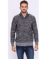 Ritchie Pull col châle LUBEX Pull - Gris