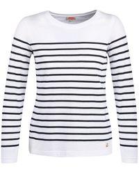 Armor Lux T-shirt Lange Mouw Yaril - Wit