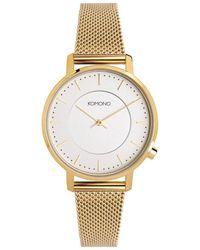 Komono Horloge - Gold Mesh - Metallic