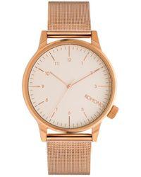 Komono Horloge Winston Royale Rose Gold-white - Roze