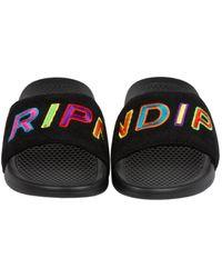 RIPNDIP Slippers Prisma Corduroy Slides - Zwart