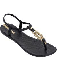 Ipanema - Infinity Sandals In Black 81960 Women's Flip Flops / Sandals (shoes) In Black - Lyst