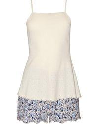 Lisca Pyjama's / Nachthemden Limitless Tank Top Pyjama Shorts Wang - Blauw