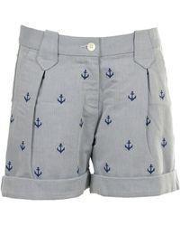 GANT Shorts O. Stripped Embroidered Shorts - Blau