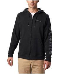 Columbia Logo Fleece FZ Sweat-shirt - Noir