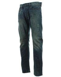 Ünkut Jean Six Raw hommes Jeans en bleu