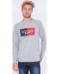 Ritchie T-shirt T-shirt manches longues col rond JANOUKA - Gris