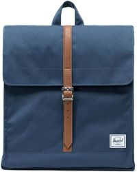Herschel Supply Co. City Mid-Volume Navy/Tan Synthetic Leather Sac à dos - Bleu