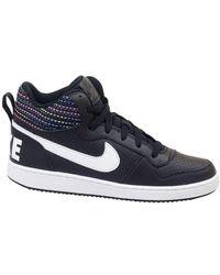 Nike Hoge Sneakers Court Borough Mid Se Gs - Zwart