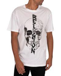 Religion T-shirt T-shirt fendu - Blanc
