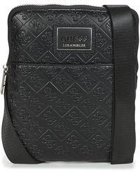 Guess Handtasje Dan Logo Mini Flat Crossbody - Zwart