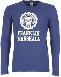 Franklin & Marshall - Destu Men's Long Sleeve T-shirt In Blue - Lyst