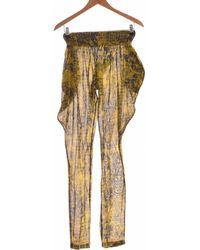 Paul & Joe Paul Joe Pantalon Droit Femme 38 - T2 - M Pantalon - Vert
