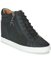 Esprit Star Wedge Shoes (high-top Trainers) - Black