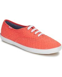 Keds - Champion Eyelet Women's Shoes (trainers) In Orange - Lyst