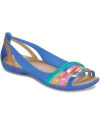 Crocs™ - Isabella Huarache 2 Flat W Women's Sandals In Blue - Lyst