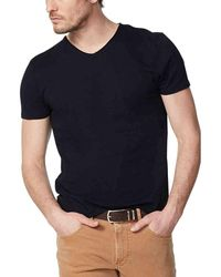 IKKS Tee Shirt Basic Col V T-shirt - Noir