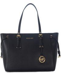 MICHAEL Michael Kors - Borsa Shopping Voyager In Pelle Nera Women's Handbags In Black - Lyst