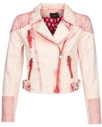 Desigual Spijkerjack Platte - Roze