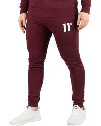 11 Degrees - Men's Core Skinny Joggers, Red Men's Sportswear In Red - Lyst